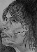 Steven Tyler Aerosmith Drawings - Steven Tyler Portrait Drawing Image Picture by Jeepee Aero