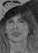 Steven Tyler Acrylic Prints - Steven Tyler Portrait Drawing Acrylic Print by Jeepee Aero