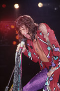 Aerosmith Framed Prints - Steven Tyler  Framed Print by Rich Fuscia