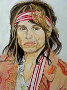 Steven Tyler Aerosmith Drawings - Steven Tyler by Sherri Ward