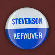 Ewing Photos - Stevenson Campaign Button by Granger