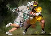 Stevenson Lacrosse Print by Scott Melby