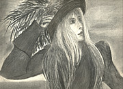 Rock Star Drawings - Stevie Nicks by Gina Cordova