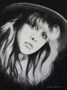 Singer Drawings - Stevie Nicks of Fleetwood Mac Has Anyone Ever Written Anything For You by Carla Carson