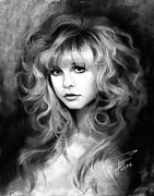 Rock Pastels Posters - Stevie Nicks Poster by Ylli Haruni