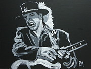 Blues Guitar Paintings - Stevie by Pete Maier