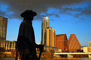James Kirkikis Prints - Stevie Ray in Austin Print by James Kirkikis