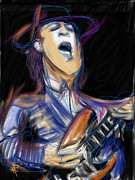 Guitarist Mixed Media - Stevie Ray by Russell Pierce