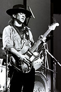 Live Performance Posters - Stevie Ray Vaughan 1984 no2 Poster by Chris Walter