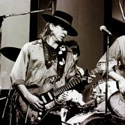 Blues Music Prints - Stevie Ray Vaughan 3 1984 Print by Chris Walter