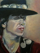 Ray Pastels - Stevie Ray Vaughan by Cecile Lucenay