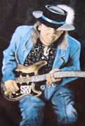 Guitar Player Digital Art - Stevie Ray Vaughan Melt by Denise Haddock
