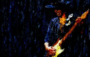 Stevie Ray Vaughn Posters - Stevie Ray Vaughan Signed Prints available at laartwork.com Coupon Code KODAK Poster by Leon Jimenez