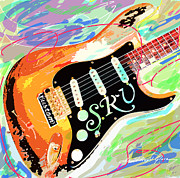 Stratocaster Art - Stevie Ray Vaughan Stratocaster by David Lloyd Glover