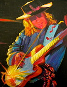 Stevie Ray Vaughn Posters - Stevie Ray Vaughn Poster by Jeanette Jarmon