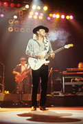Stratocaster Metal Prints - Stevie Ray Vaughn Metal Print by Rich Fuscia