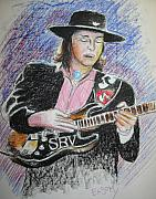 Ray Pastels - Stevie Ray Vaughn by Scott Easom