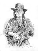 Music Legends Paintings - Stevies Blues by David Lloyd Glover