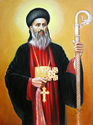 Orthodox Painting Framed Prints - St.Gregorious of Parumala Framed Print by Anup Roy