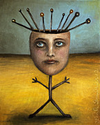 Bizarre Paintings - Stick Figure 1 by Leah Saulnier The Painting Maniac