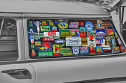 Car Window Framed Prints - Stickers Framed Print by Brian Mollenkopf