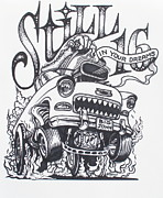 Rat Fink Drawings - Still 16 in your mind by Alan Johnson