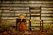 Old Chair Posters - Still Country Life 2 Poster by Sari Sauls