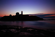 Nubble Lighthouse Prints - Still Dawn Cape Neddick Print by Rick Berk
