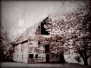 Rural Decay  Digital Art Metal Prints - Still Here Metal Print by Julie Hamilton