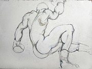 Boxer Drawings Prints - Still in the Game Print by Carolyn Weltman