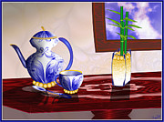Teapot Digital Art Framed Prints - Still Life - from the tutorial Framed Print by Raine