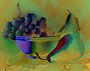 Kate Farrant Art - Still Life - Grapes N Pears by Kate Farrant