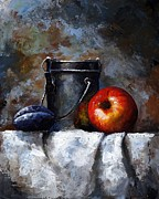 Red Fruit Art - Still Life 10 by Emerico Toth
