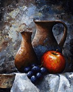 Black Art Paintings - Still life 11 by Emerico Imre Toth