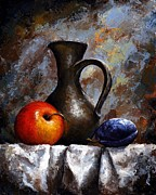Palette Knife Art Posters - Still life 13 Poster by Emerico Toth