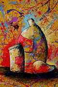 Wine Glasses Paintings - Still Life 16 by Artist  Singh