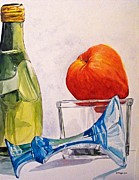 Champagne Metal Prints - Still Life 2 Metal Print by D K Betts
