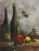Still Life Wine Posters - Still Life 3 Poster by Harvie Brown