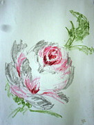 Petal Pastels Originals - Still Life 34 - Rose by Mohd Raza-ul Karim
