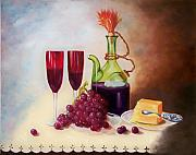 Food And Beverage Framed Prints - Still Life 5 Framed Print by Joni McPherson