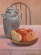 Kitchen Chair Paintings - Still Life at a Young Age by Linda Krider Aliotti