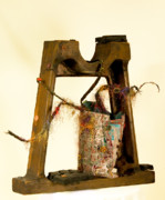 Tire Mixed Media Originals - Still Life Blow Out by Martha Ressler