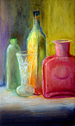James Gallagher Prints - Still Life Bottles and Vase Print by James Gallagher
