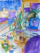 Potted Drawings Metal Prints - Still Life Metal Print by Casey Heyen