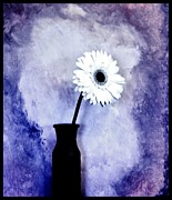 Gerber Daisy Art - Still Life Daisy Abstract by Marsha Heiken