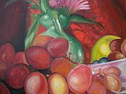 Aleksandra Buha Art - Still Life Grapes by Aleksandra Buha