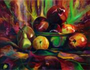 Katie Neeley Posters - Still Life I Fruit Bowl Poster by Kd Neeley