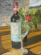 John Schuller Paintings - Still Life in Chianti by John Schuller