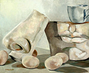 Kathryn M Bennett Prints - Still Life in White Print by Kathryn M Bennett