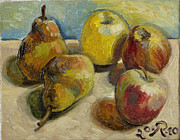 French Pears Prints - Still Life January in Paris Print by Raimonda Jatkeviciute-Kasparaviciene